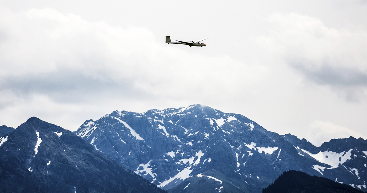 Schubi Schmuckbild Segelflugzeug in Agathazell